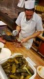 Cocinero Katz Deli interior, New York City fotografía de archivo