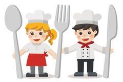 Cocinero Kids Menu stock de ilustración