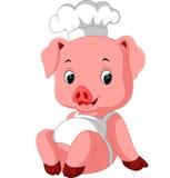 Cocinero lindo del cerdo libre illustration