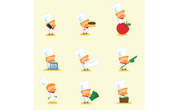 Cocinero Mascot Set 3 Imágenes de archivo libres de regalías