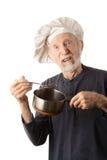 Cocinero mayor divertido Fotos de archivo libres de regalías
