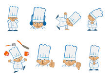 Cocinero minúsculo Juggle Fotografía de archivo libre de regalías
