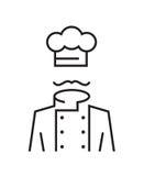 Cocinero Mustachioed Fotos de archivo libres de regalías