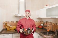 Cocinero nacional en cocina española Foto de archivo
