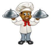 Cocinero negro Cartoon Character Imagen de archivo