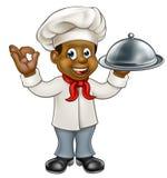Cocinero negro Cartoon Character Fotos de archivo