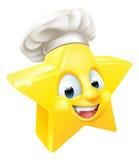 Cocinero o panadero de la estrella ilustración del vector
