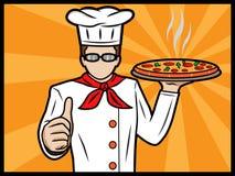 Cocinero que muestra los pulgares para arriba Foto de archivo