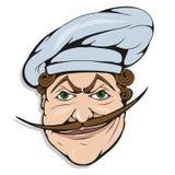 Cocinero que se coloca en una diversa actitud, jefe del restaurante, cocinero del cocinero de la historieta en el uniforme, logot ilustración del vector