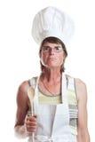 Cocinero severo imagenes de archivo