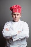 Cocinero sonriente Fotografía de archivo libre de regalías