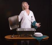 Cocinero sonriente de la comida fría Fotos de archivo