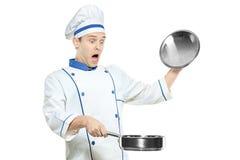 Cocinero sorprendido foto de archivo