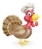Cocinero Turkey de la historieta Fotografía de archivo