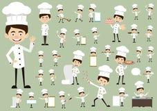 Cocinero Vector Illustration Design - plantilla del logotipo de la panadería Fotos de archivo libres de regalías