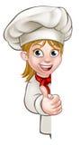 Cocinero Woman Cartoon Cook ilustración del vector