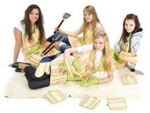Cocineros adolescentes Imagen de archivo