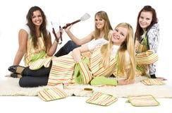 Cocineros adolescentes Imágenes de archivo libres de regalías