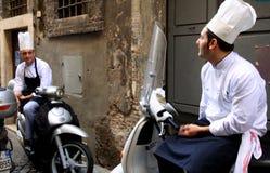 Cocineros del italiano Fotografía de archivo
