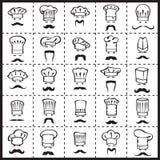 Cocineros Mustachioed fijados Imagen de archivo libre de regalías