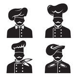 Cocineros Mustachioed fijados Fotografía de archivo