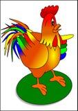 Cock. Holiday illustration nature animal Royalty Free Stock Photo
