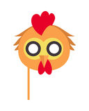 Cock Bird Carnival Mask. Rooster Chicken Hen Fowl. Stock Photo