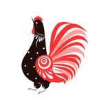 Петух. Bird in the Russian style stock illustration