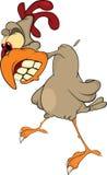 Cock . Cartoon. Fighting cock with the big teeth Stock Photos