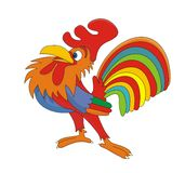 Cock chanticleer rooster vector cartoon illustrati Royalty Free Stock Photos