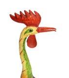 Cock chanticleer rooster wooden figure Stock Photo