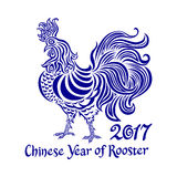 2017 cock chinese Year of rooster vector illustration. Art Royalty Free Stock Images