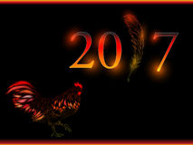 Cock. Happy new year 2017. Vector eps 10. Royalty Free Stock Images