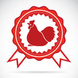 Cock label Royalty Free Stock Images