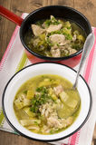 Cock a leekie soup, a typical scotish meal Stock Photography