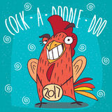 Cock or rooster smiling teeth and making eyes at Royalty Free Stock Photography