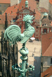 Of St. Vitus. On the roof of St. Vitus cathedral in Prague royalty free stock image