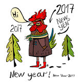 Cock  symbol of 2017 Stock Images