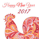 Cock. Symbol 2017. Red Rooster. Oriental pattern. Chinese New Year 2017. Cock.Chinese New Year 2017.  Vector silhouette. Symbol 2017. Red Rooster. Oriental Stock Photo