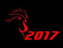Cock 2017. vector Stock Images