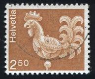 Weather Vane. SWITZERLAND - CIRCA 1973: stamp printed by Switzerland, shows Weather Vane, St. Ursus Cathedral, Solothurn, circa 1973 stock images