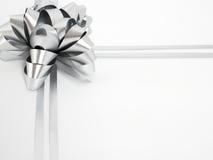 Cockade de prata do feriado Imagens de Stock Royalty Free
