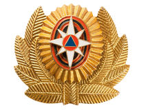 Cockade  EMERCOM of Russia Stock Image