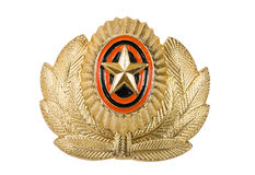 Cockade-russischer Offizier in der Armee Stockbilder