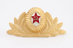 Cockade Soviet Army. Isolated object Stock Photo