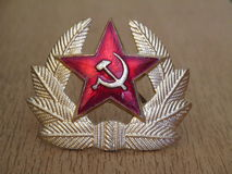 Cockade of Soviet Army. Cockade that soviet soldiers wore in the army of the USSR, Soviet Union Royalty Free Stock Images