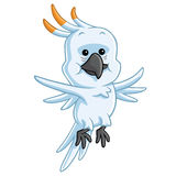 Cockatoo Cartoon Vector. Cockatoo Cartoon Mascot Illustration Clipart Stock Photo