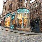 Cockburn街道在爱丁堡 免版税库存图片