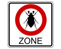 Cockchafer traffic sign Stock Image