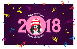 Cocker Spaniel. Happy new year Royalty Free Stock Images